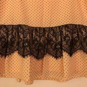 BCBGeneration Skirts - Light Peach w/ Black Lace Skirt
